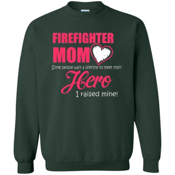 firefighter mom shirt sweatshirt - forest green
