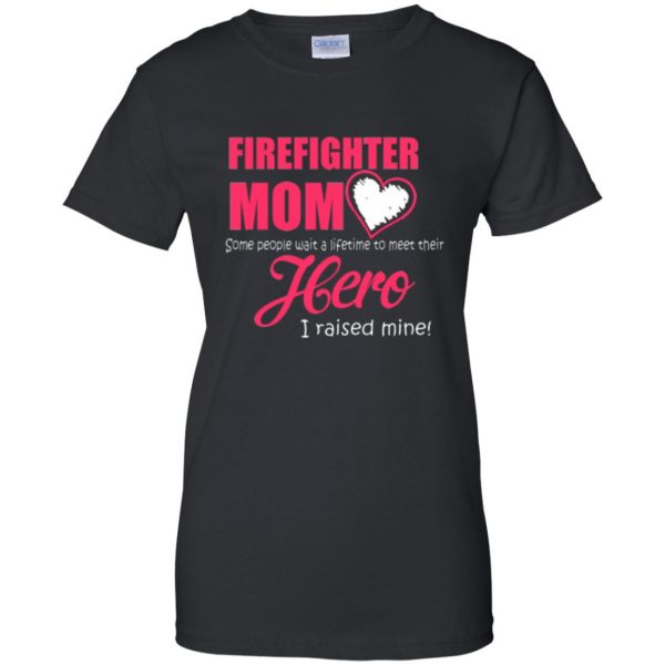 firefighter mom shirt womens t shirt - lady t shirt - black