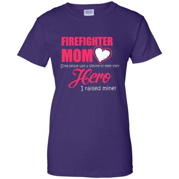 firefighter mom shirt womens t shirt - lady t shirt - purple