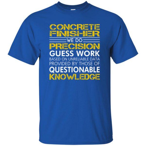 concrete finisher shirts t shirt - royal blue