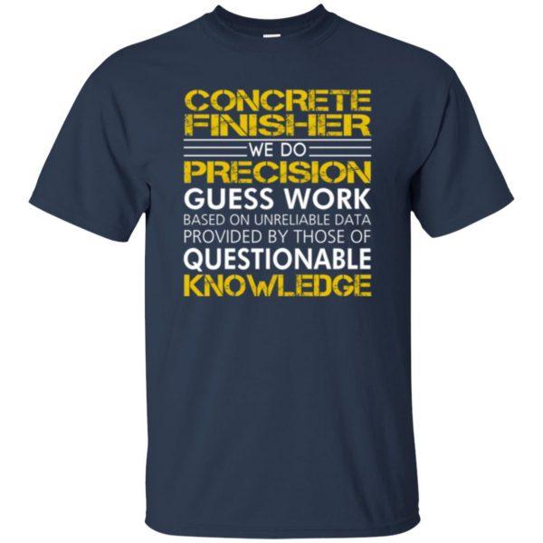 concrete finisher shirts t shirt - navy blue