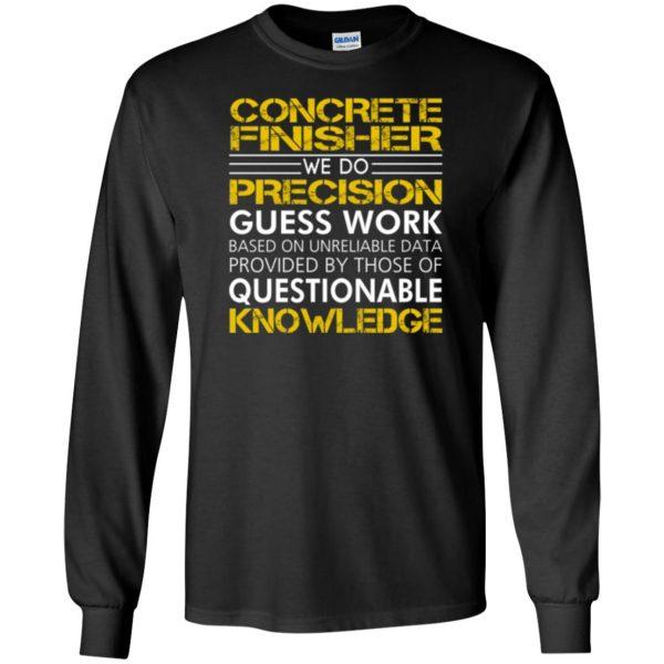 concrete finisher shirts long sleeve - black