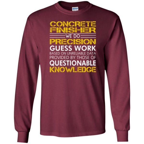 concrete finisher shirts long sleeve - maroon