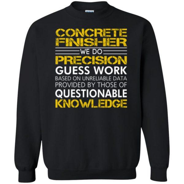 concrete finisher shirts sweatshirt - black