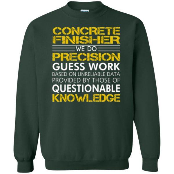 concrete finisher shirts sweatshirt - forest green