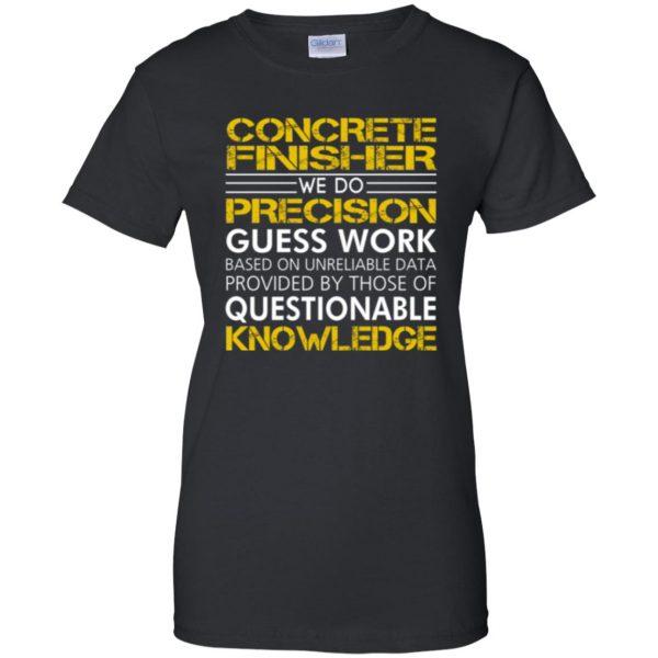 concrete finisher shirts womens t shirt - lady t shirt - black
