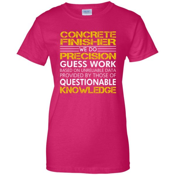 concrete finisher shirts womens t shirt - lady t shirt - pink heliconia