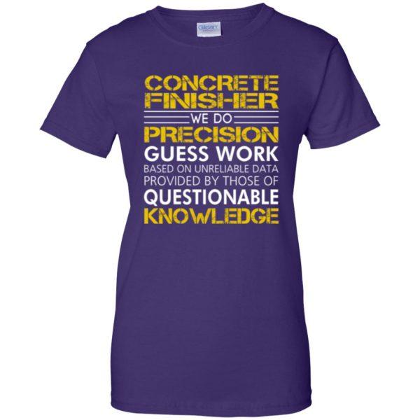 concrete finisher shirts womens t shirt - lady t shirt - purple