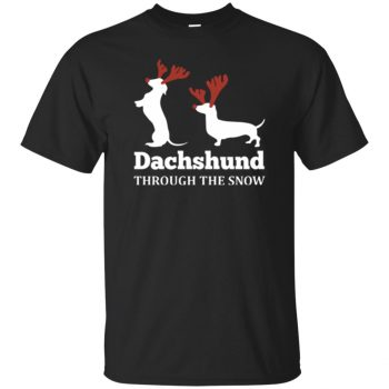 dachshund through the snow - black
