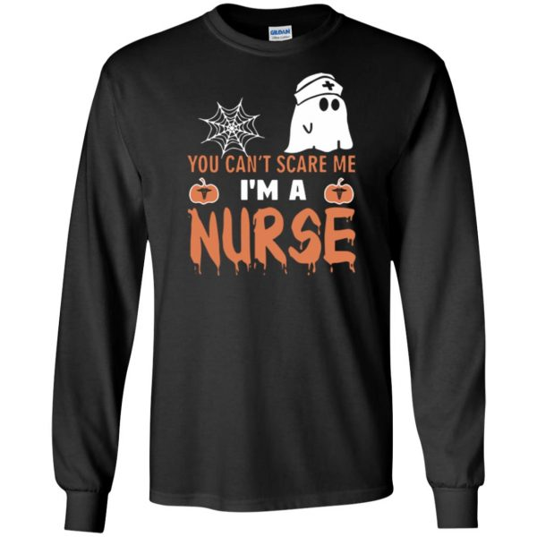 nurse halloween shirt long sleeve - black