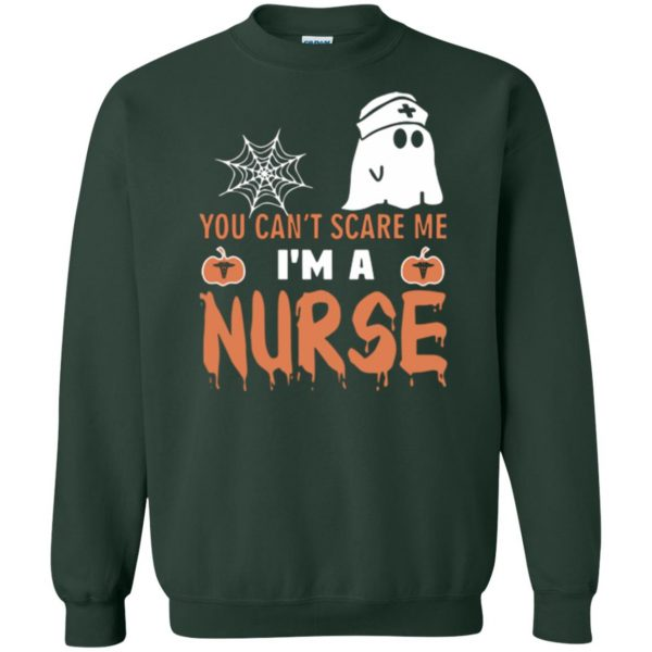 nurse halloween shirt sweatshirt - forest green