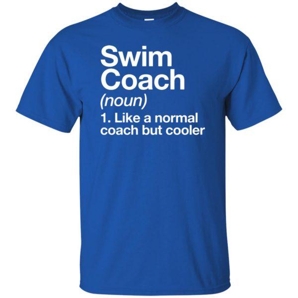 Swim Coach t shirt - royal blue