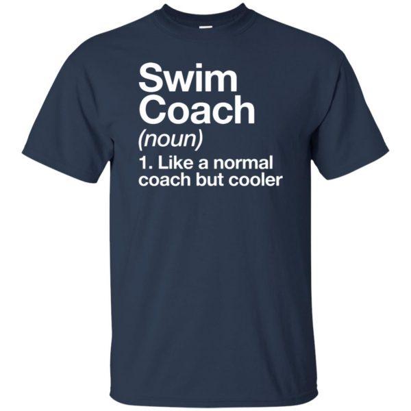 Swim Coach t shirt - navy blue