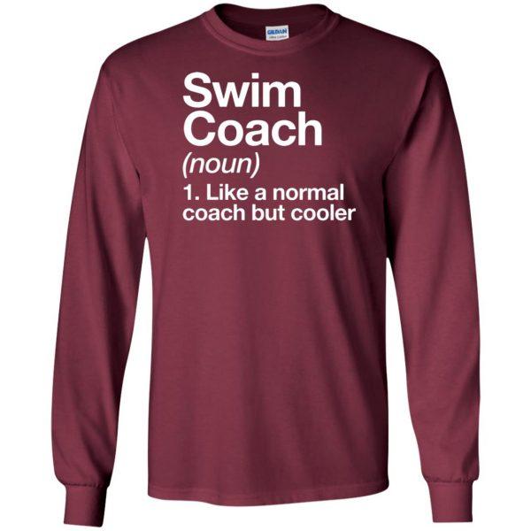 Swim Coach long sleeve - maroon