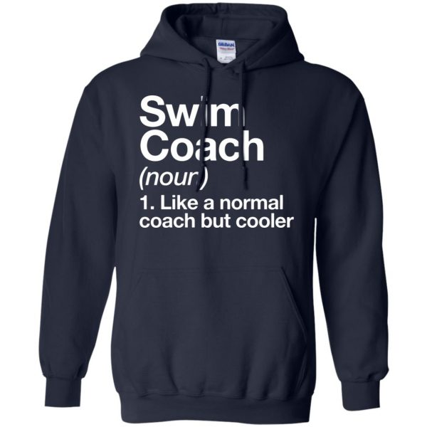 Swim Coach hoodie - navy blue