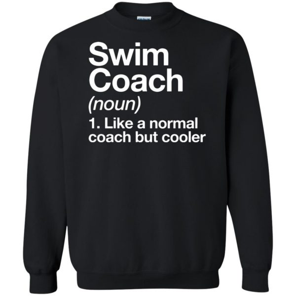Swim Coach sweatshirt - black