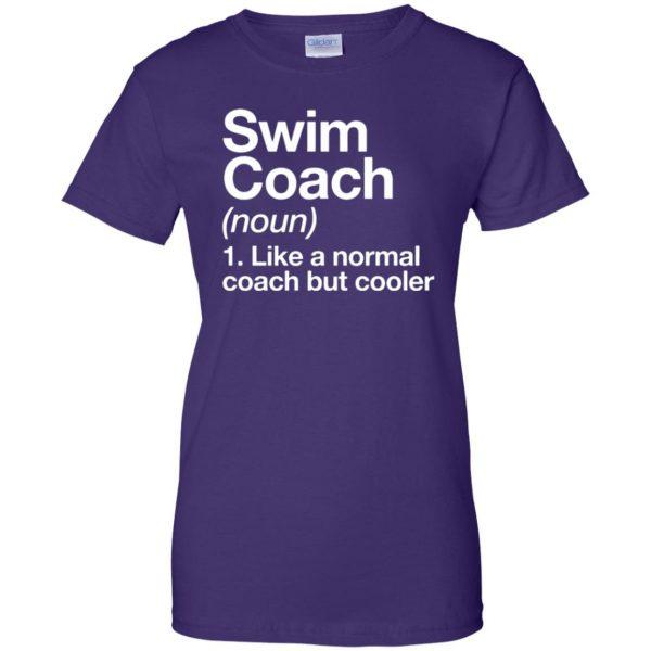 Swim Coach womens t shirt - lady t shirt - purple