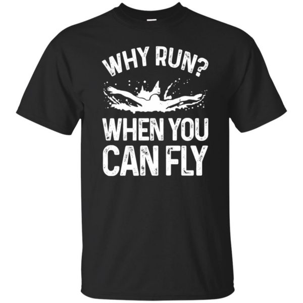 Why you run ? when you can fly ? - black
