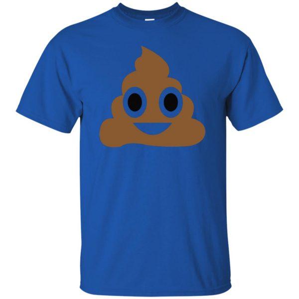 poop emoji t shirt t shirt - royal blue