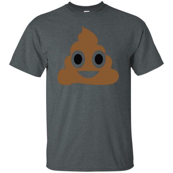 poop emoji t shirt t shirt - dark heather