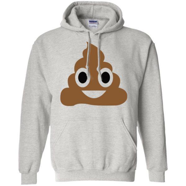 poop emoji t shirt hoodie - ash