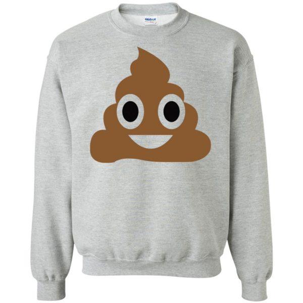 poop emoji t shirt sweatshirt - sport grey