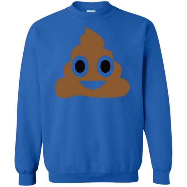 poop emoji t shirt sweatshirt - royal blue