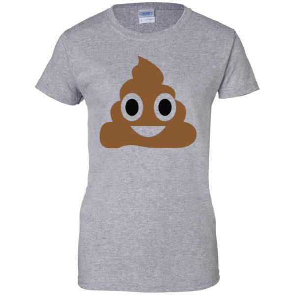 poop emoji t shirt womens t shirt - lady t shirt - sport grey