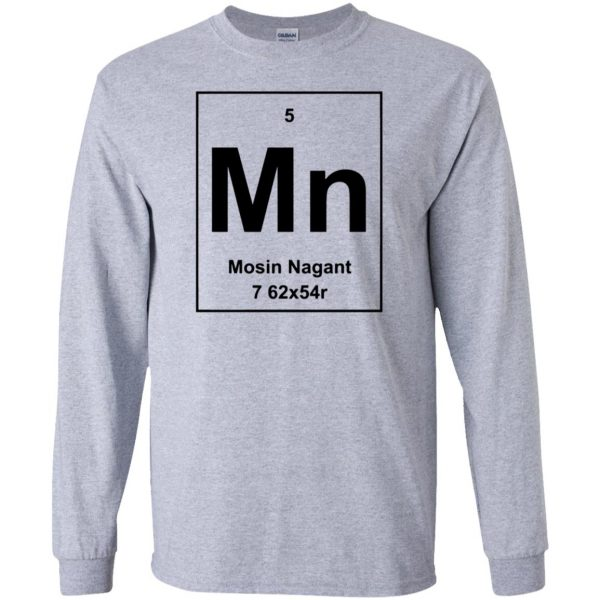 mosin nagant shirt long sleeve - sport grey
