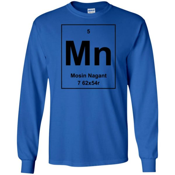 mosin nagant shirt long sleeve - royal blue