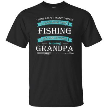 grandpa fishing - black