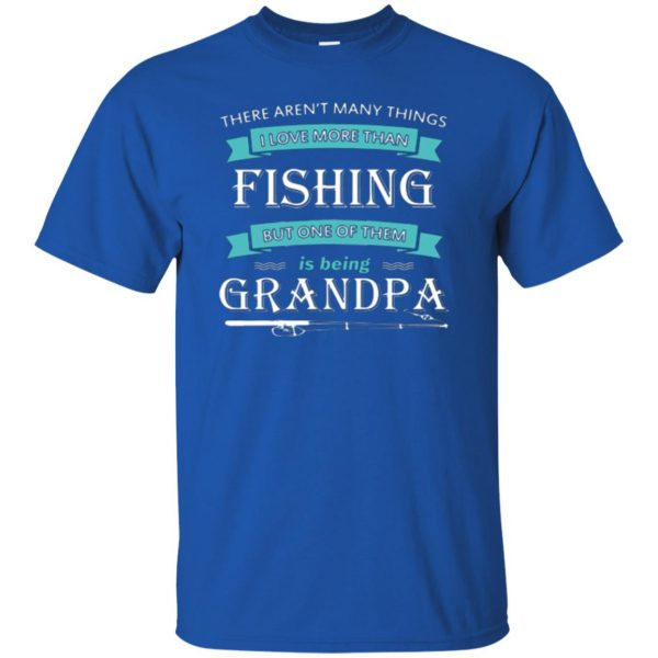 grandpa fishing shirt t shirt - royal blue