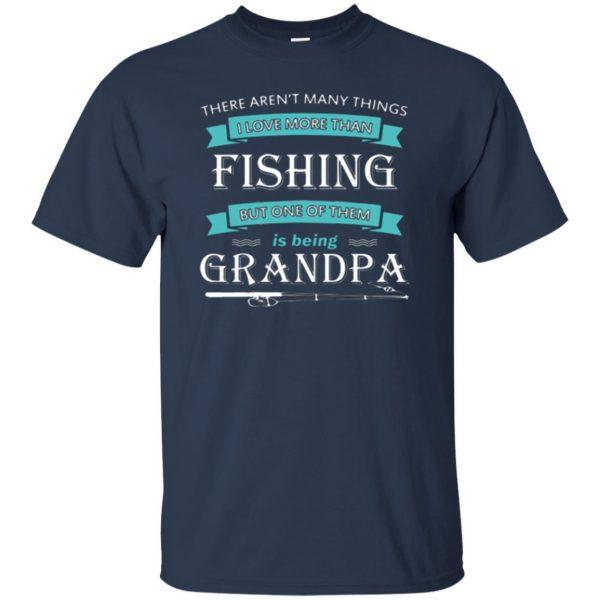 grandpa fishing shirt t shirt - navy blue