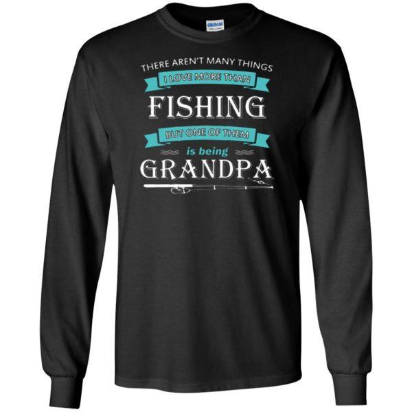 grandpa fishing shirt long sleeve - black