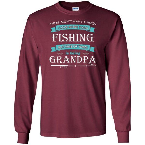 grandpa fishing shirt long sleeve - maroon