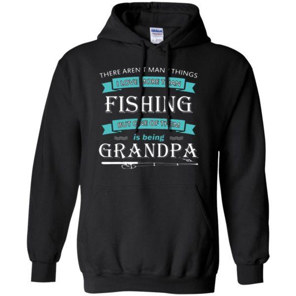 grandpa fishing shirt hoodie - black