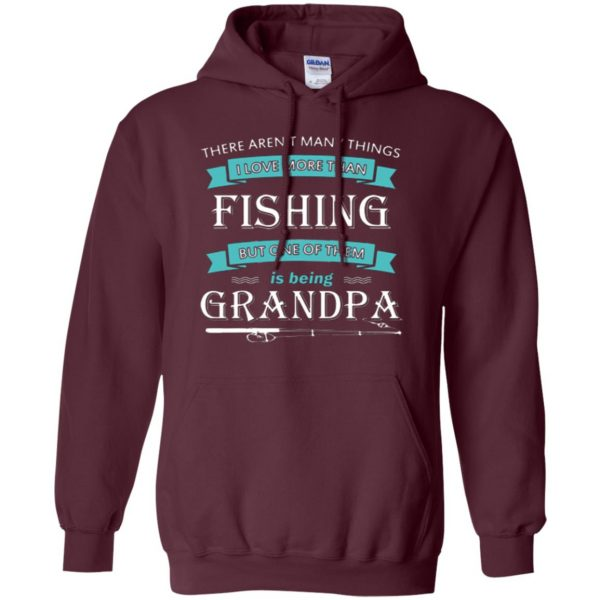 grandpa fishing shirt hoodie - maroon