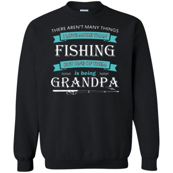 grandpa fishing shirt sweatshirt - black
