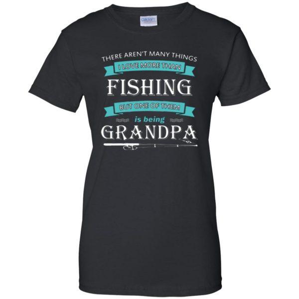 grandpa fishing shirt womens t shirt - lady t shirt - black
