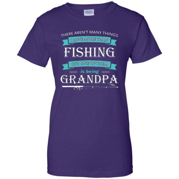 grandpa fishing shirt womens t shirt - lady t shirt - purple