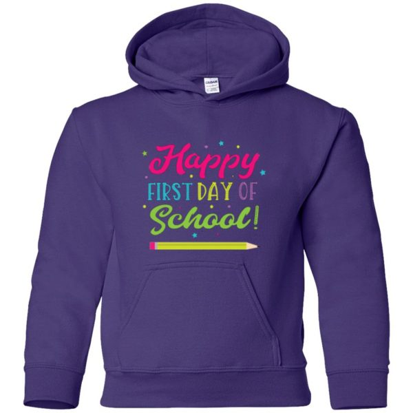 first day of school t shirt kids hoodie - purple