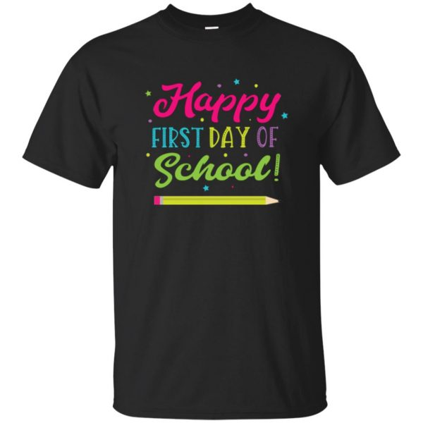 first day of school t shirt kids t shirt - black
