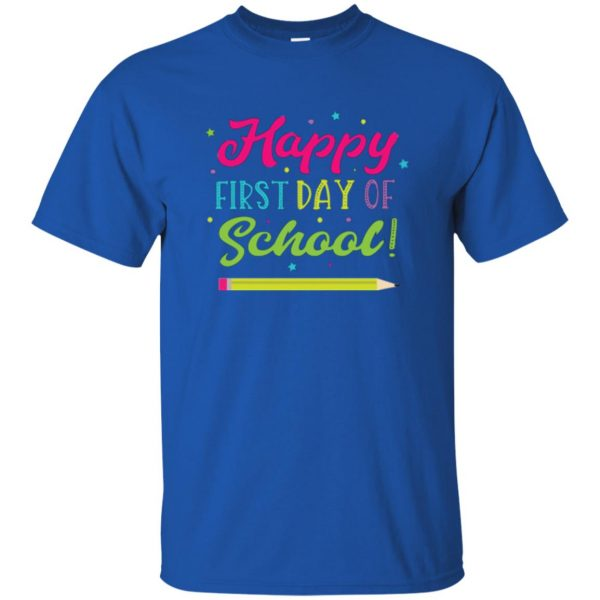 first day of school t shirt kids t shirt - royal blue