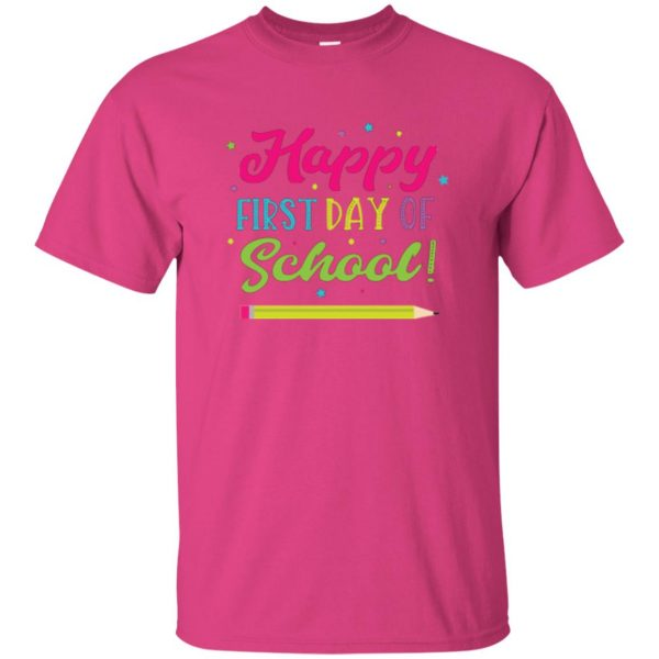 first day of school t shirt kids t shirt - pink heliconia