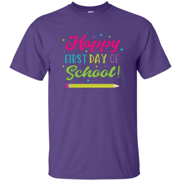first day of school t shirt kids t shirt - purple