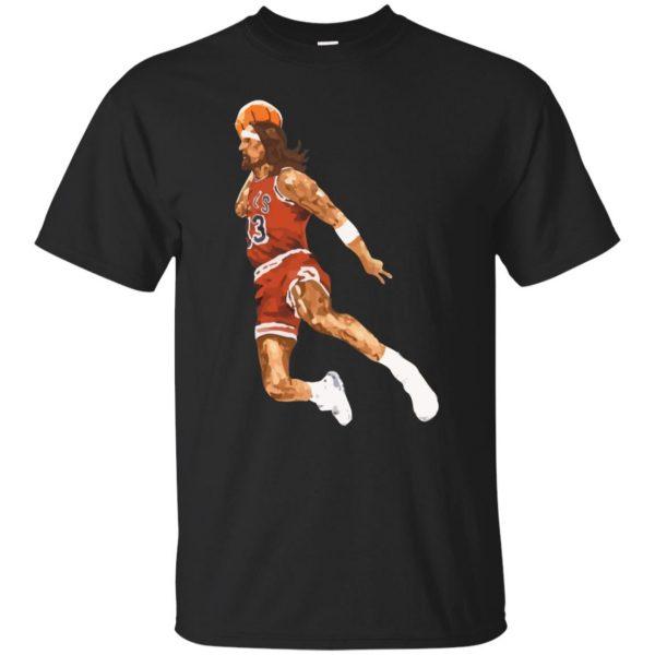 jumpshot jesus shirt - black