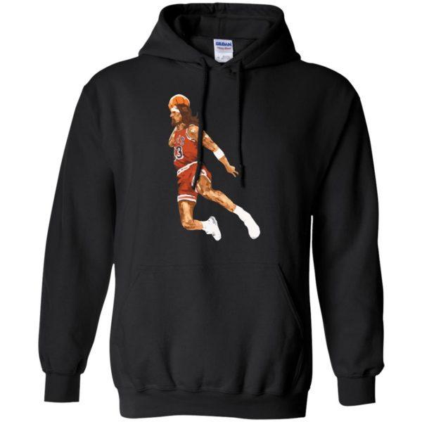 jumpshot jesus hoodie - black