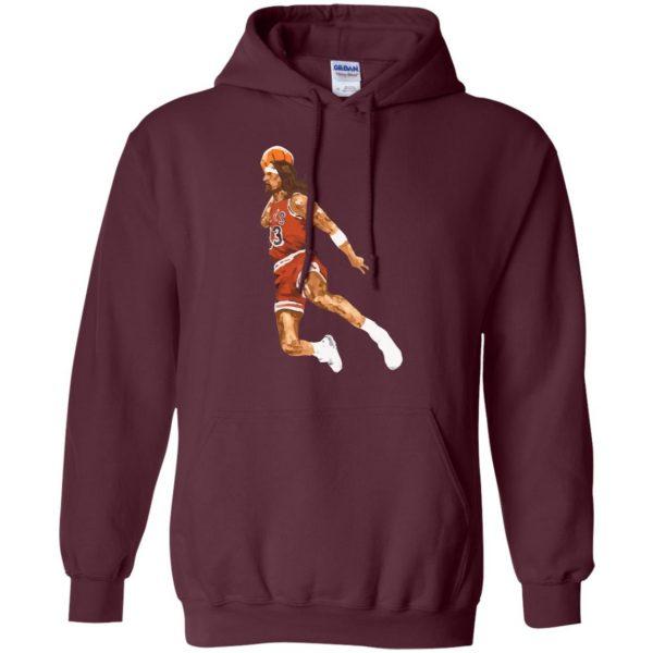 jumpshot jesus hoodie - maroon