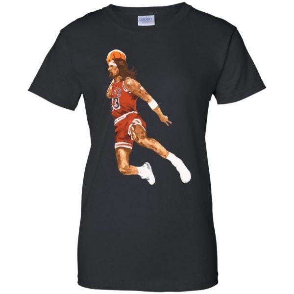 jumpshot jesus womens t shirt - lady t shirt - black