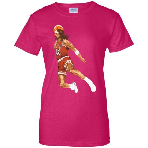 jumpshot jesus womens t shirt - lady t shirt - pink heliconia